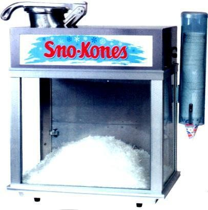 Snow Cone Rental includes Syrup Flavor and snow cone cups, no ice
