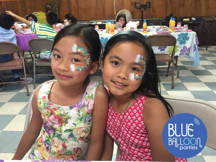 face painting 2 girls