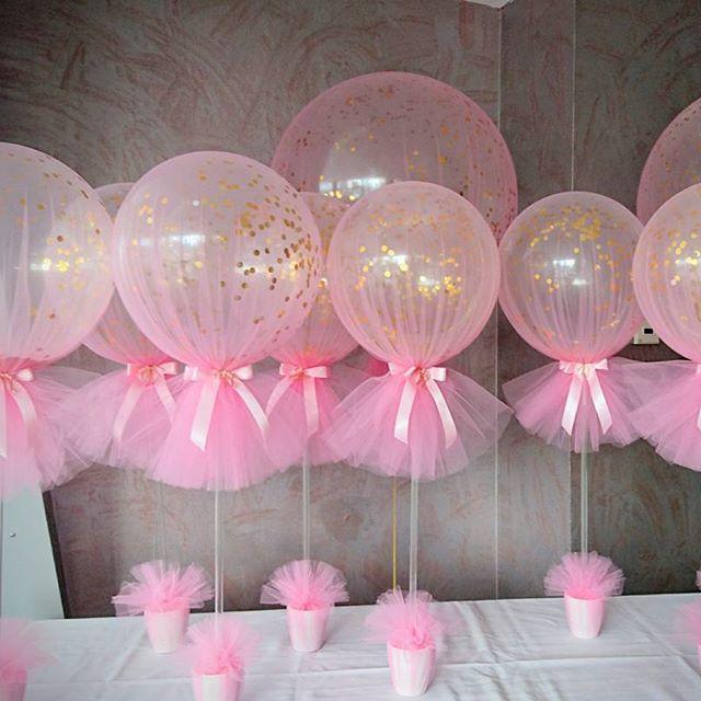 Tulle Balloons Blue Balloon Parties